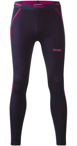Bergans Akeleie Youth Tights Navy/Hot Pink